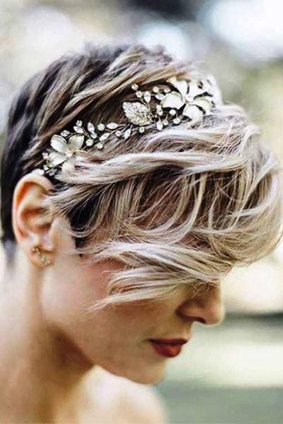 Svatební účesy krátké vlasy