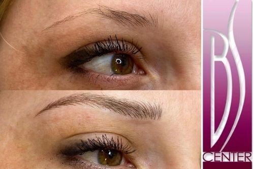 Microblading eyebrows tattoo