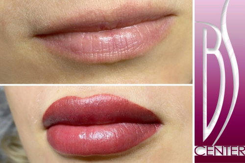 Permanent Aquarel lips