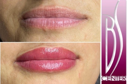 Lip tattoo makeup