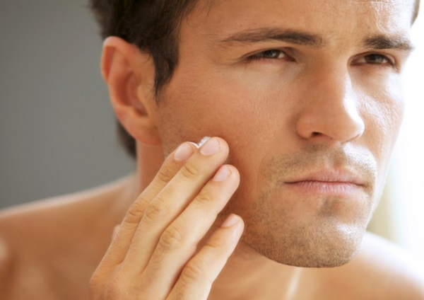 photo men's facial treatment