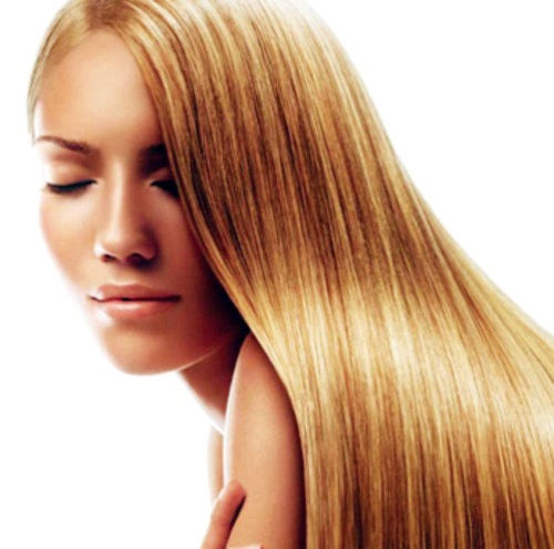 photo brazilian keratin hair straightening